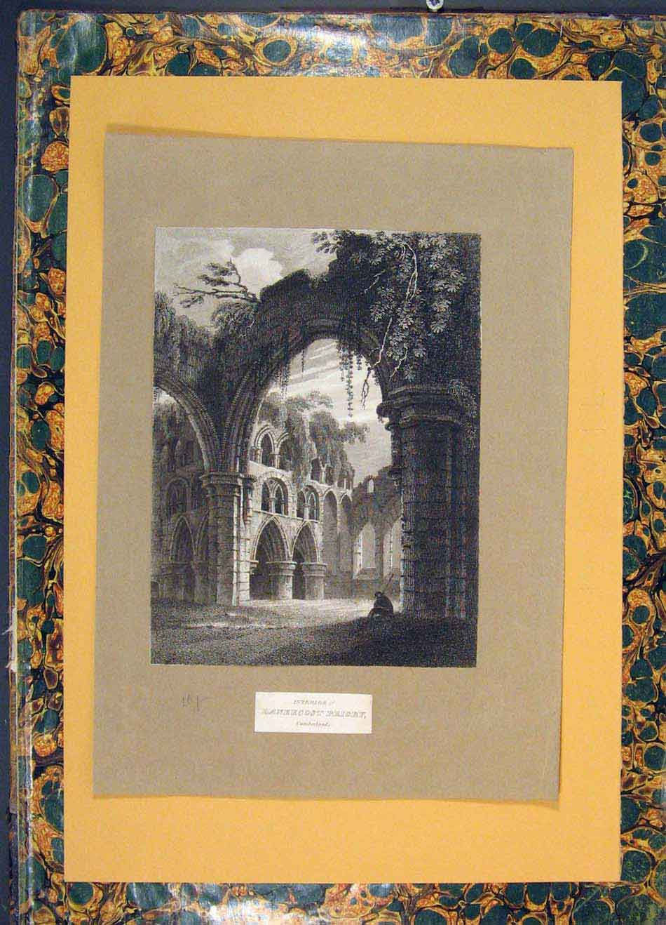 Print Lanercost Priory Cumberland England 1880 186001 Old Original