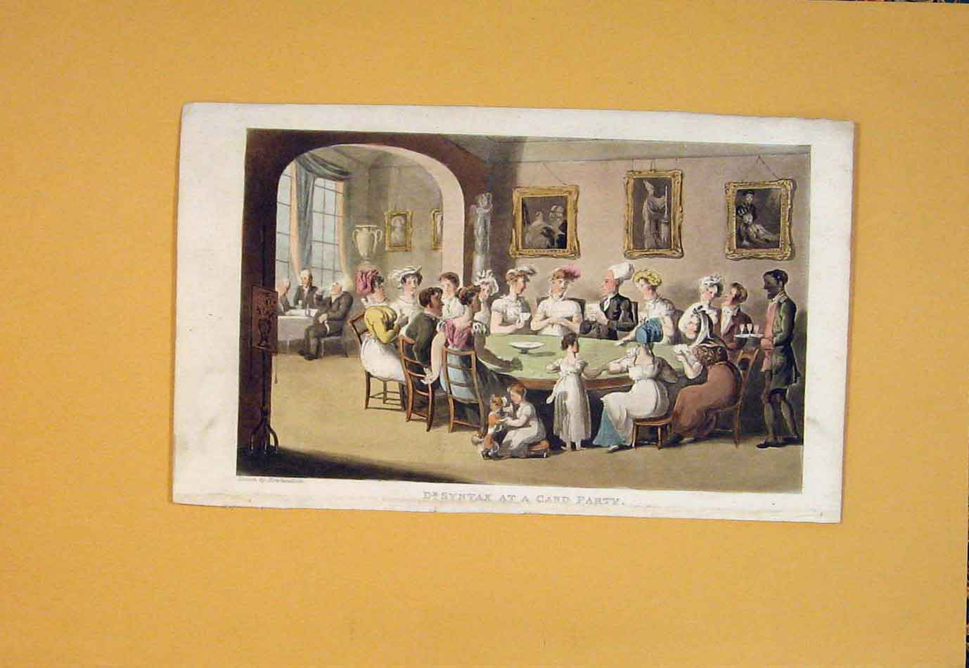 Print Syntax Card Party Round Table Color 656021 Old Original