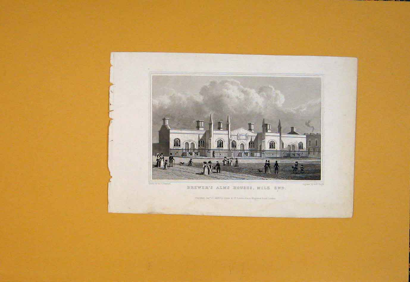 [Print Brewer'S Alms Houses Mile End Building Art 946021 Old Original]
