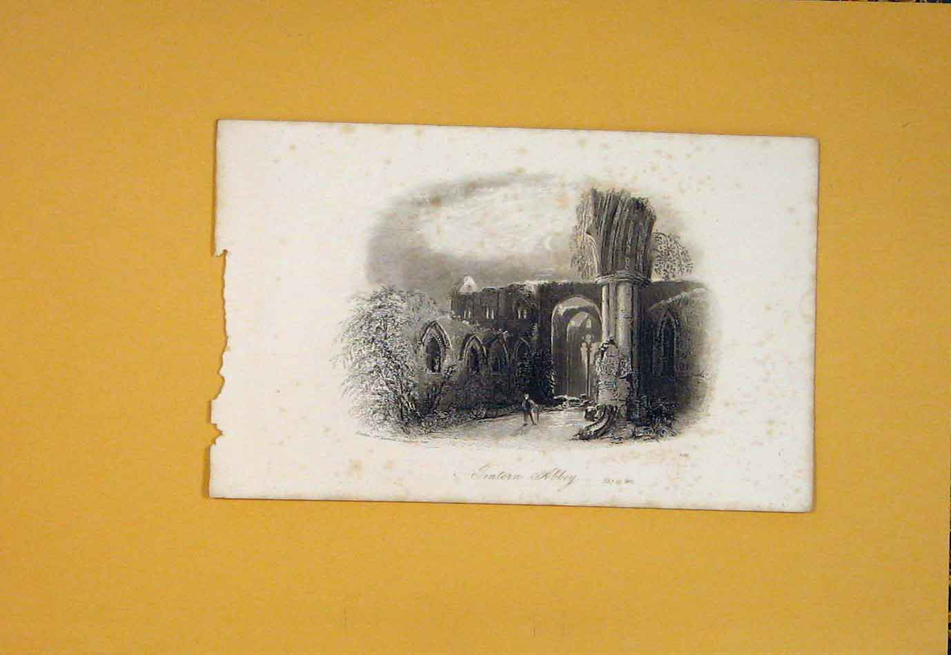 Print Jintern Abbey Fine Art C1865 England 306021 Old Original