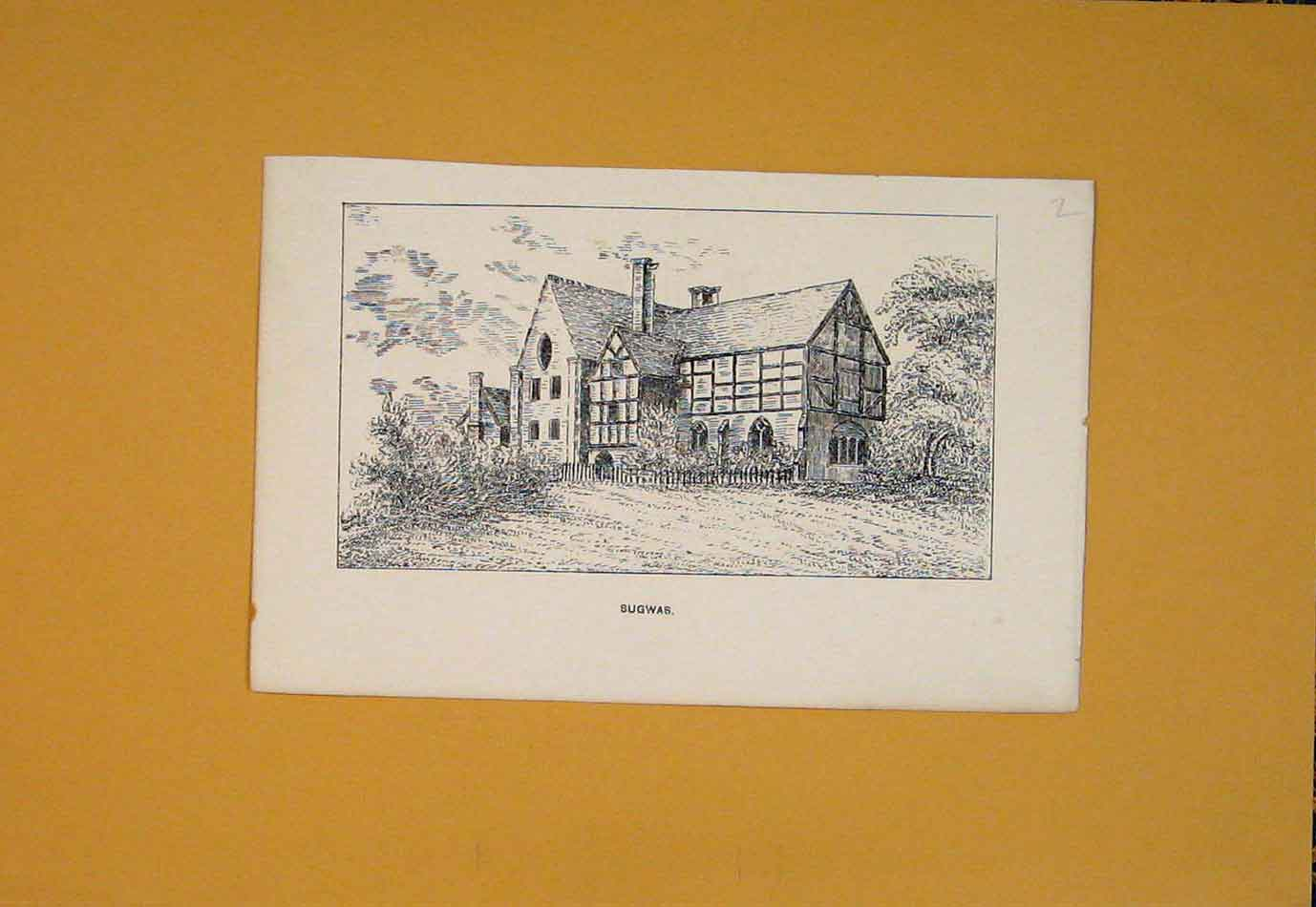 [Print Sugwas Fine Art Building Castle House 616021 Old Original]