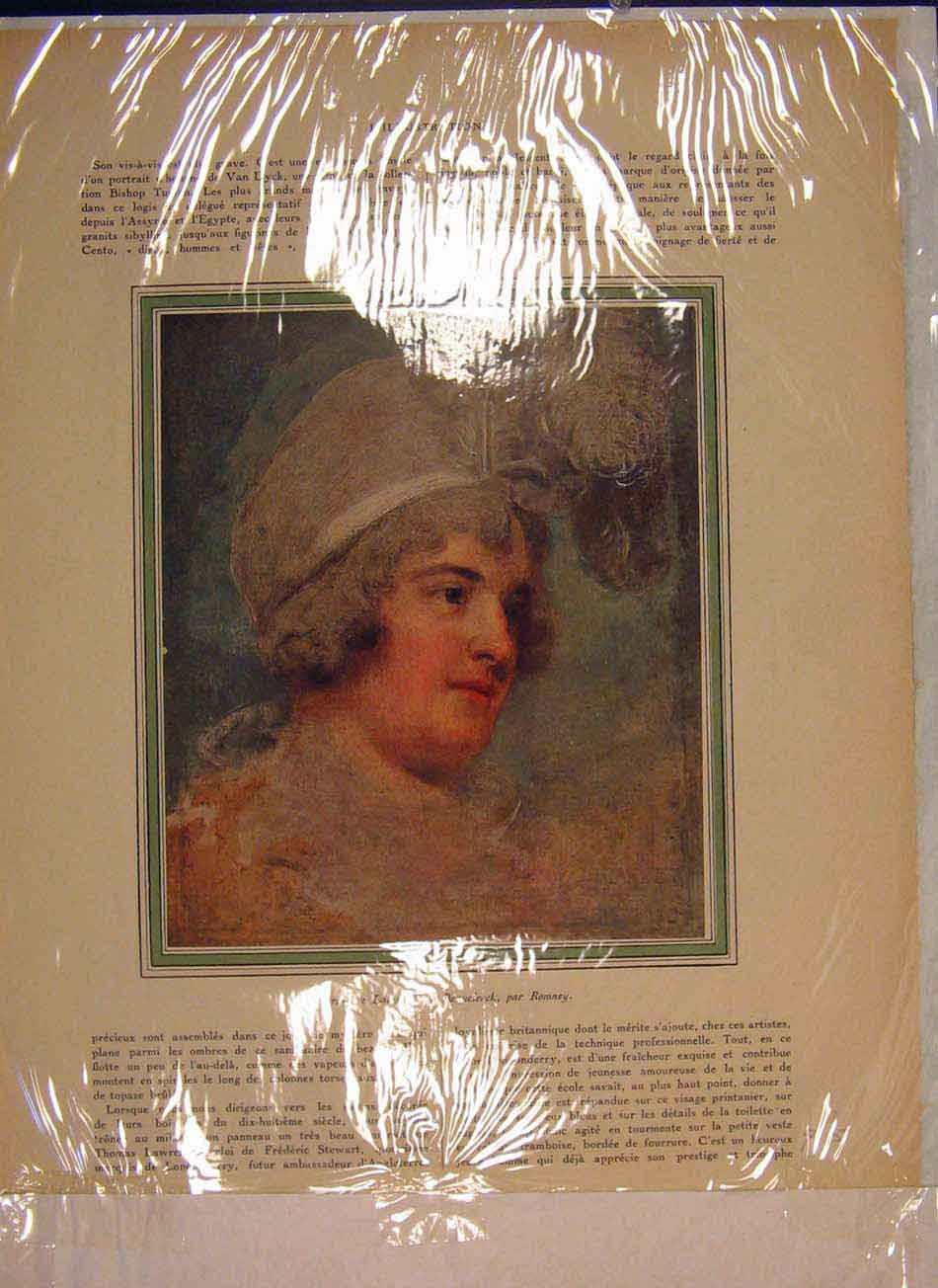 Print Portrait Lady Diana Beauclerck Ronney Color 436041 Old Original