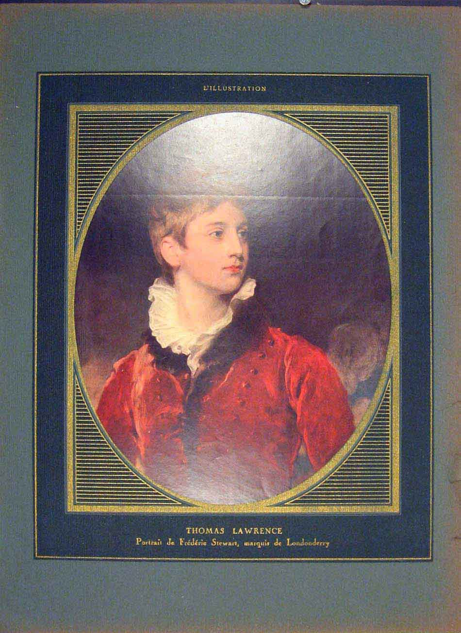 Print Thomas Lawrence Portrait Stewart C1925 456041 Old Original