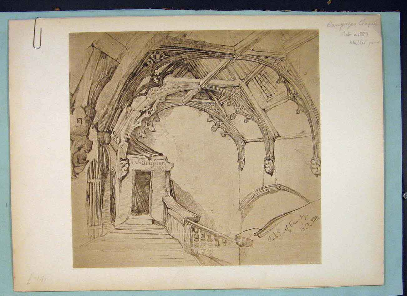 Print Canynges Chapel Interior Eastern Art C1883 756041 Old Original