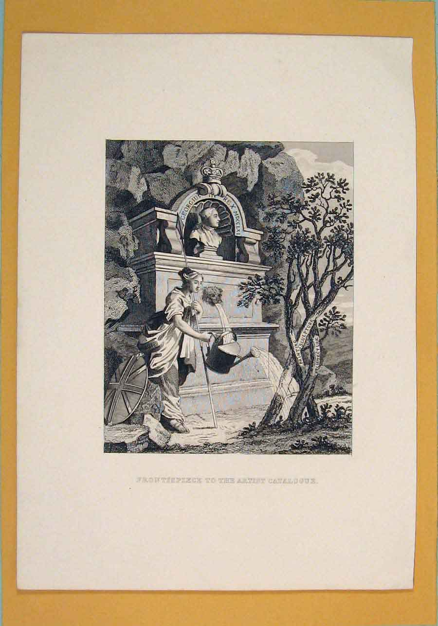 Print Frontispiece Artist Catalogue Fine Art 156051 Old Original