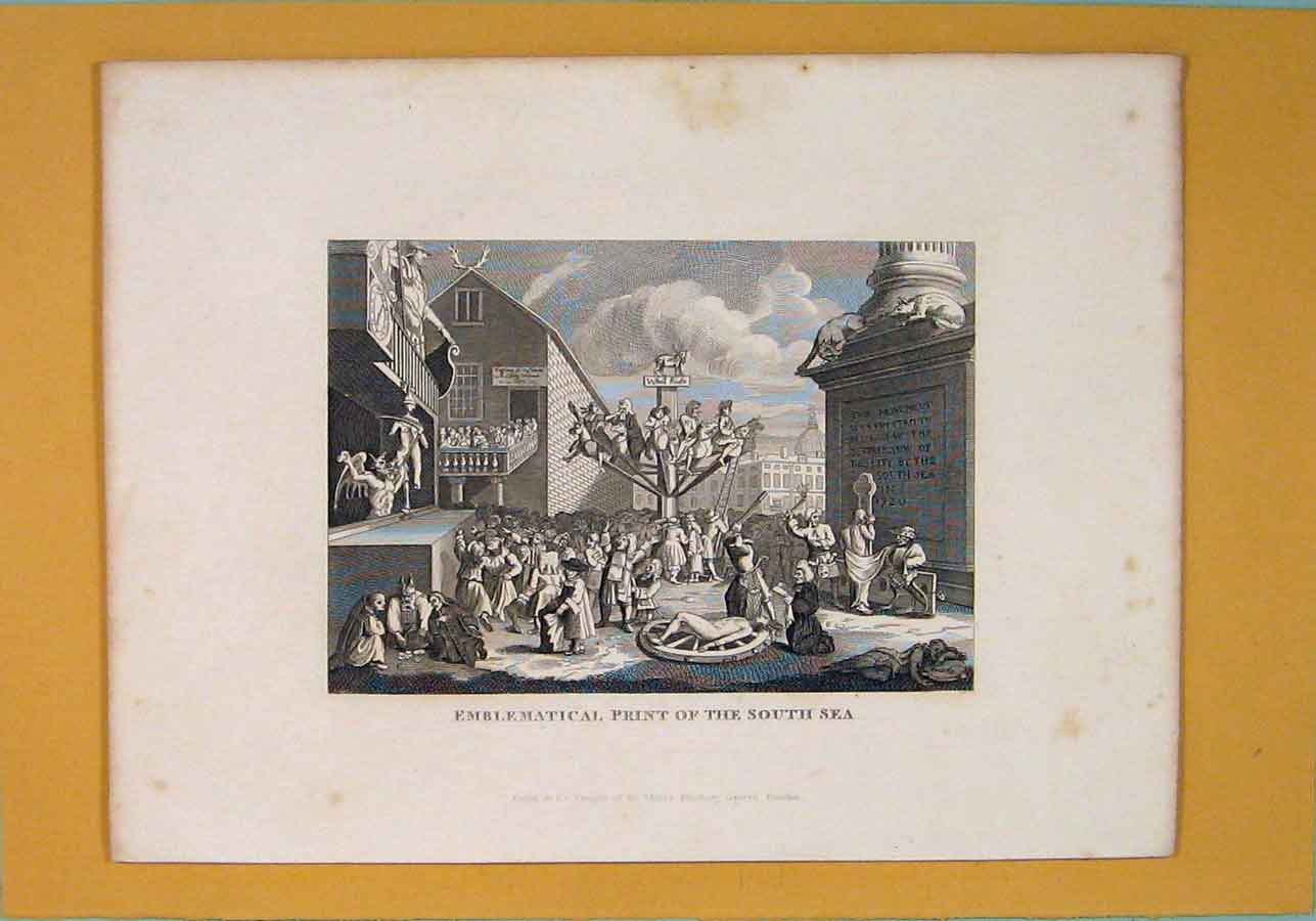 Print C1835 Emblematical South Sea Fine Art 676051 Old Original