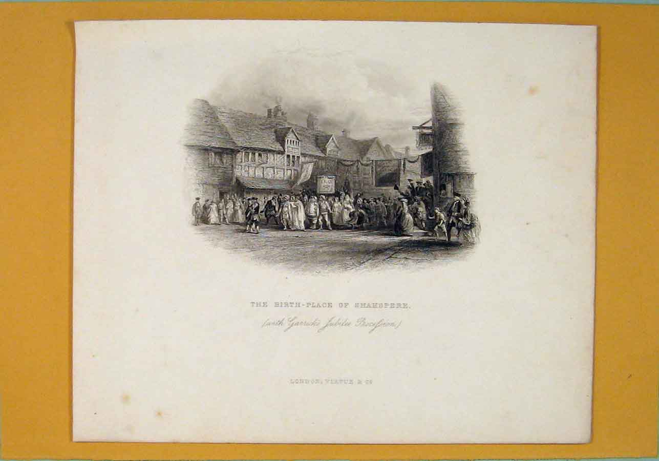 Print Birth Place Shakspere Jubilee Procession 706051 Old Original