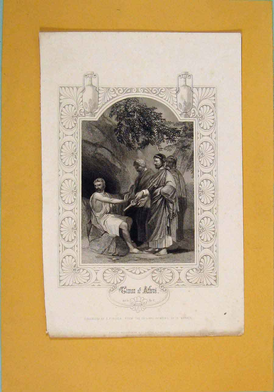 Print C1860 Cimon Athens Portrait Fine Art 496051 Old Original