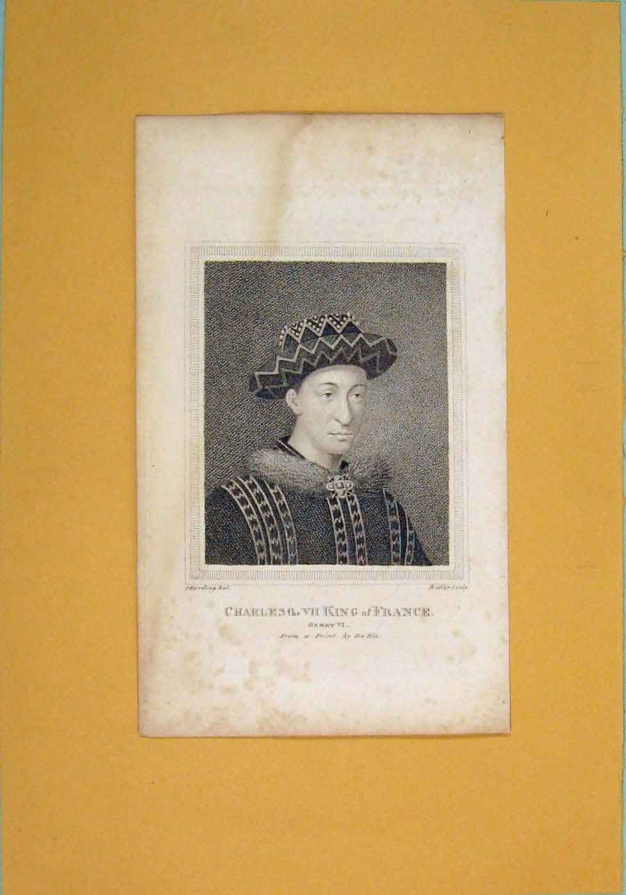 Print Charles King France Shakspere Henry Portrait 1792 426061 Old Original