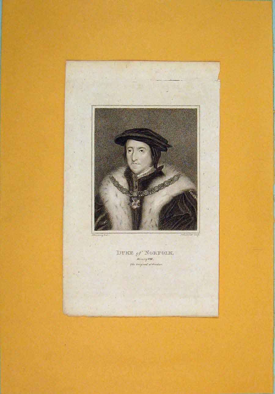 Print Duke Norfolk Fine Art Potrait C1792 646061 Old Original