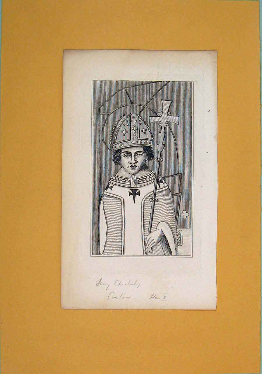 Print Henry Chechely Fine Art Potrait C1792 886061 Old Original
