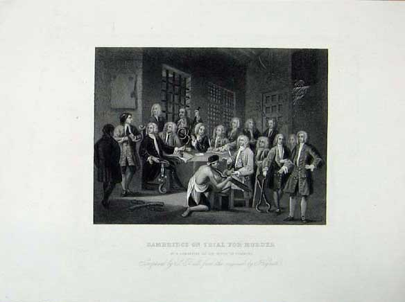 Print Bambridge Trial Murder Committee House Commons C1835 156071 Old Original