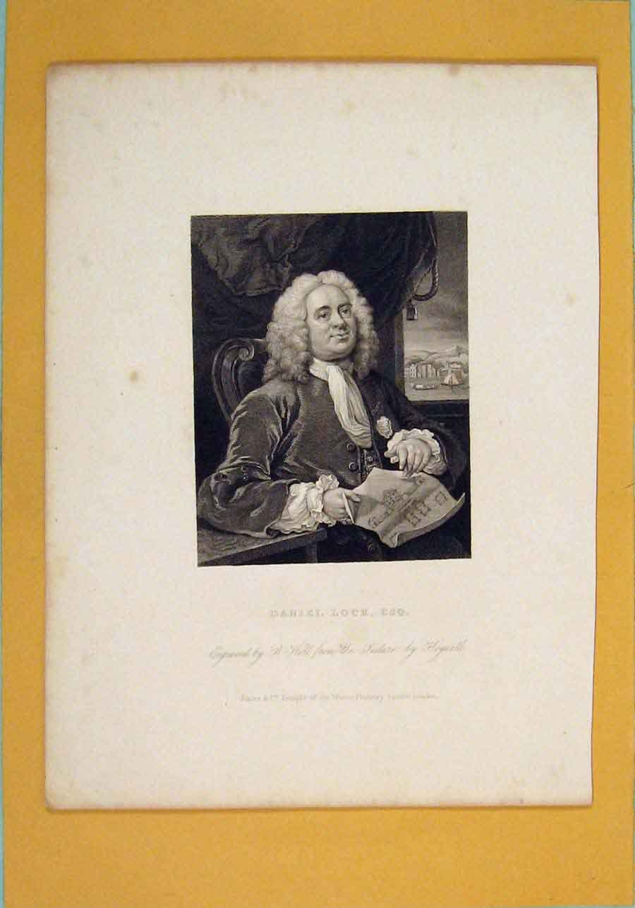 Print Daniel Lock Fine Art Portrait C1835 176071 Old Original