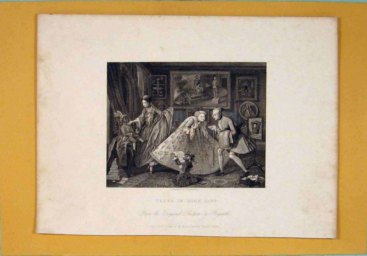 Print High Life Royalty Living Fine Art C1835 186071 Old Original