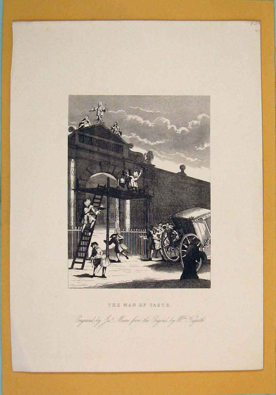 Print Taste Hogarth Wall Paint Painting Artist Murel 196071 Old Original