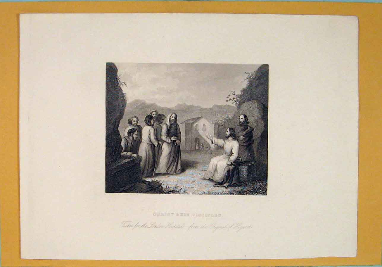 [Print Christ Disciples Biblical Religious Hospital 216071 Old Original]