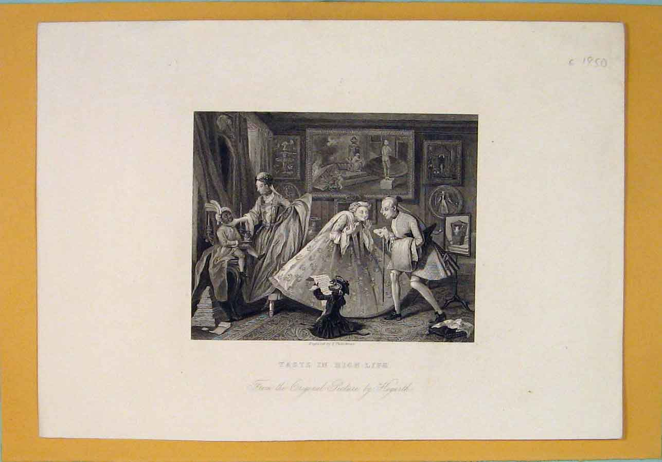 Print High Life King Royalty Rich Hogarth C1850 256071 Old Original
