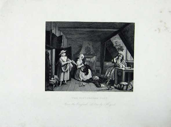 Print Distressed Poet Artist Attict Hogarth Art 326071 Old Original