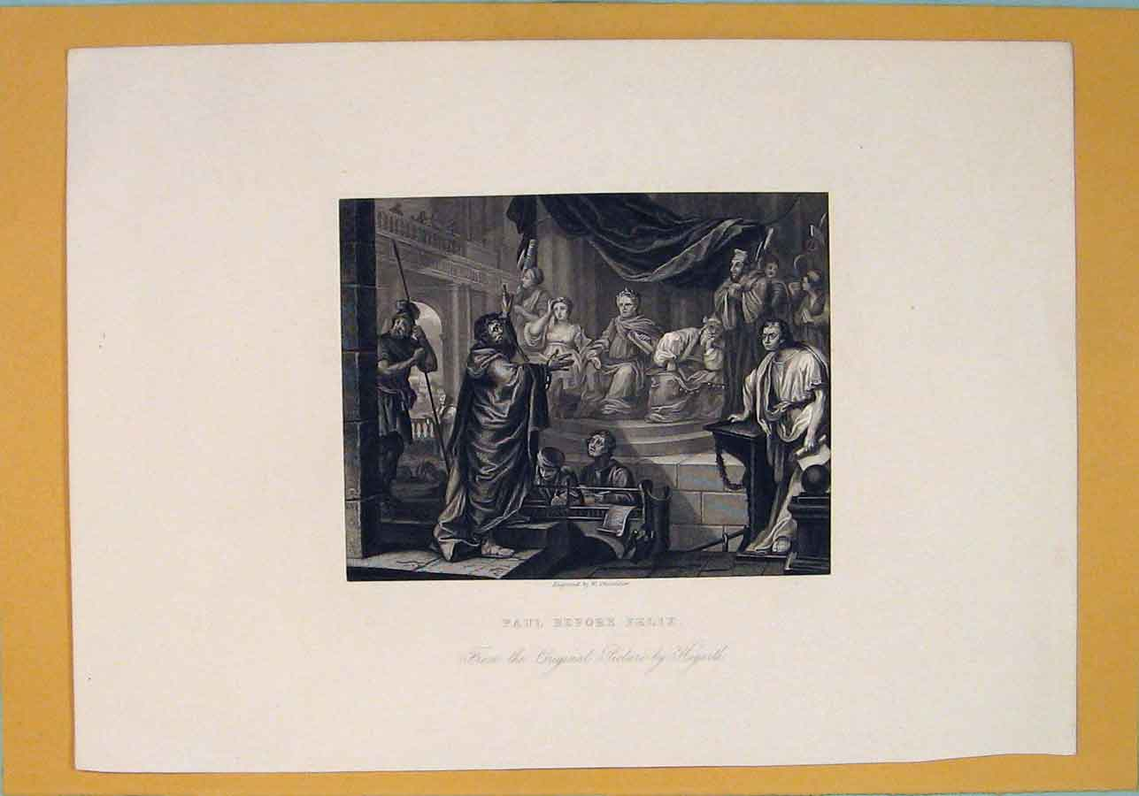 Print Paul Felix Hogarth Fine Art C1807 386071 Old Original