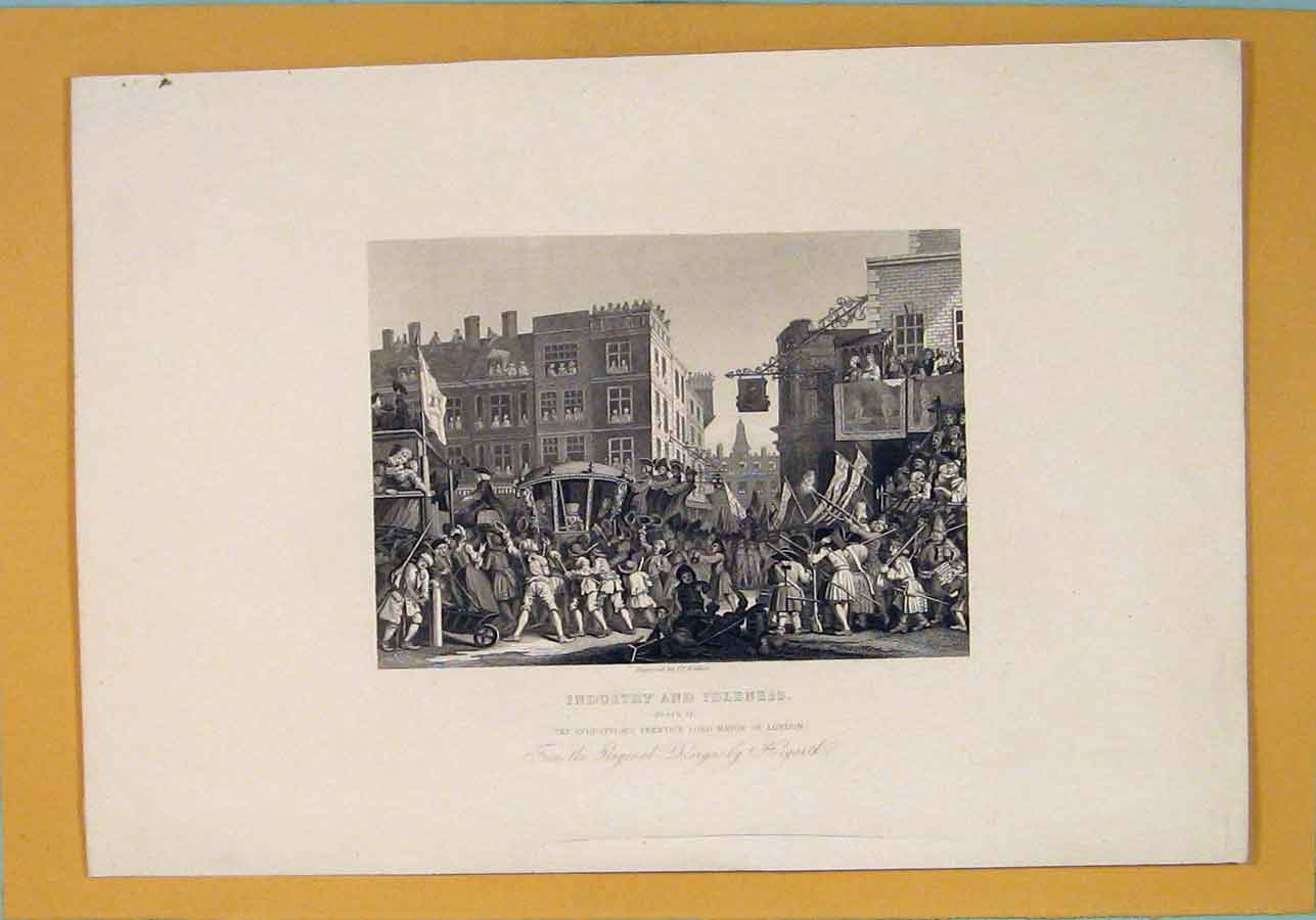 [Print Industry Industrial Mayor London Hogarth C1835 626071 Old Original]