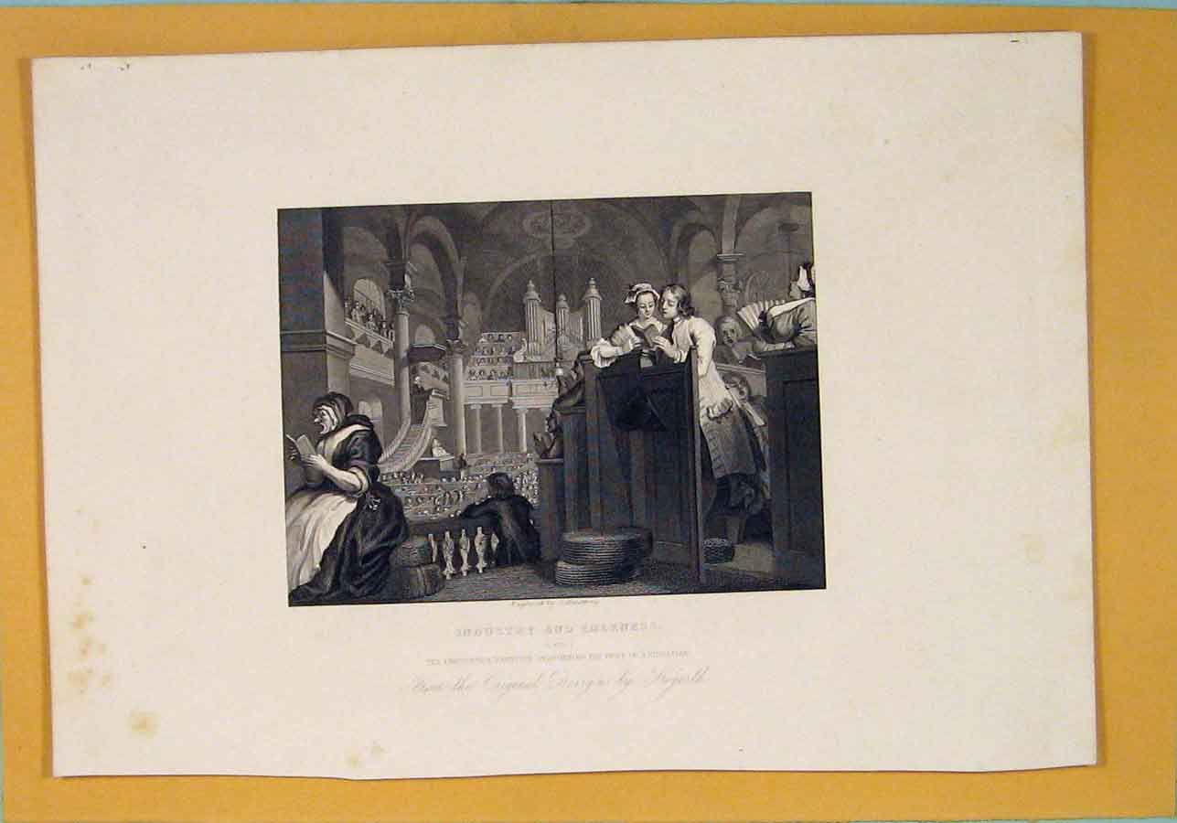 [Print Industry Industrial Christian Duty Hogarth C1835 726071 Old Original]