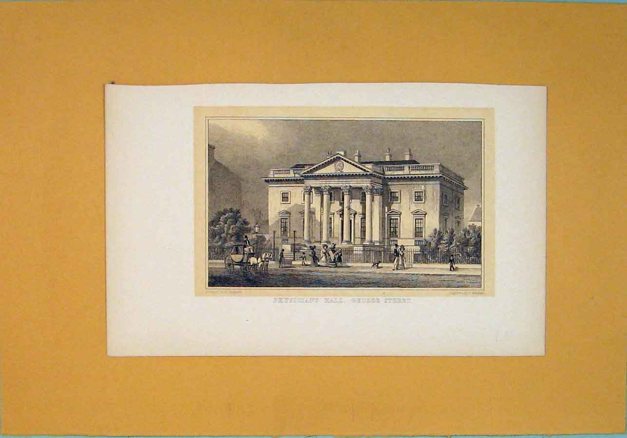 Print Physicians Hall George Street Fine Art 206091 Old Original