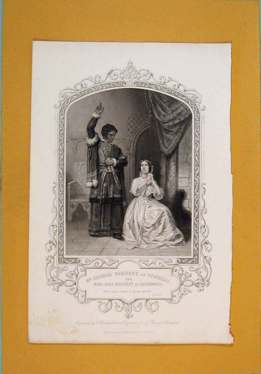 Print Play Othello Jane Bennett Desdemona George Act 4 Sc2 716101 Old Original