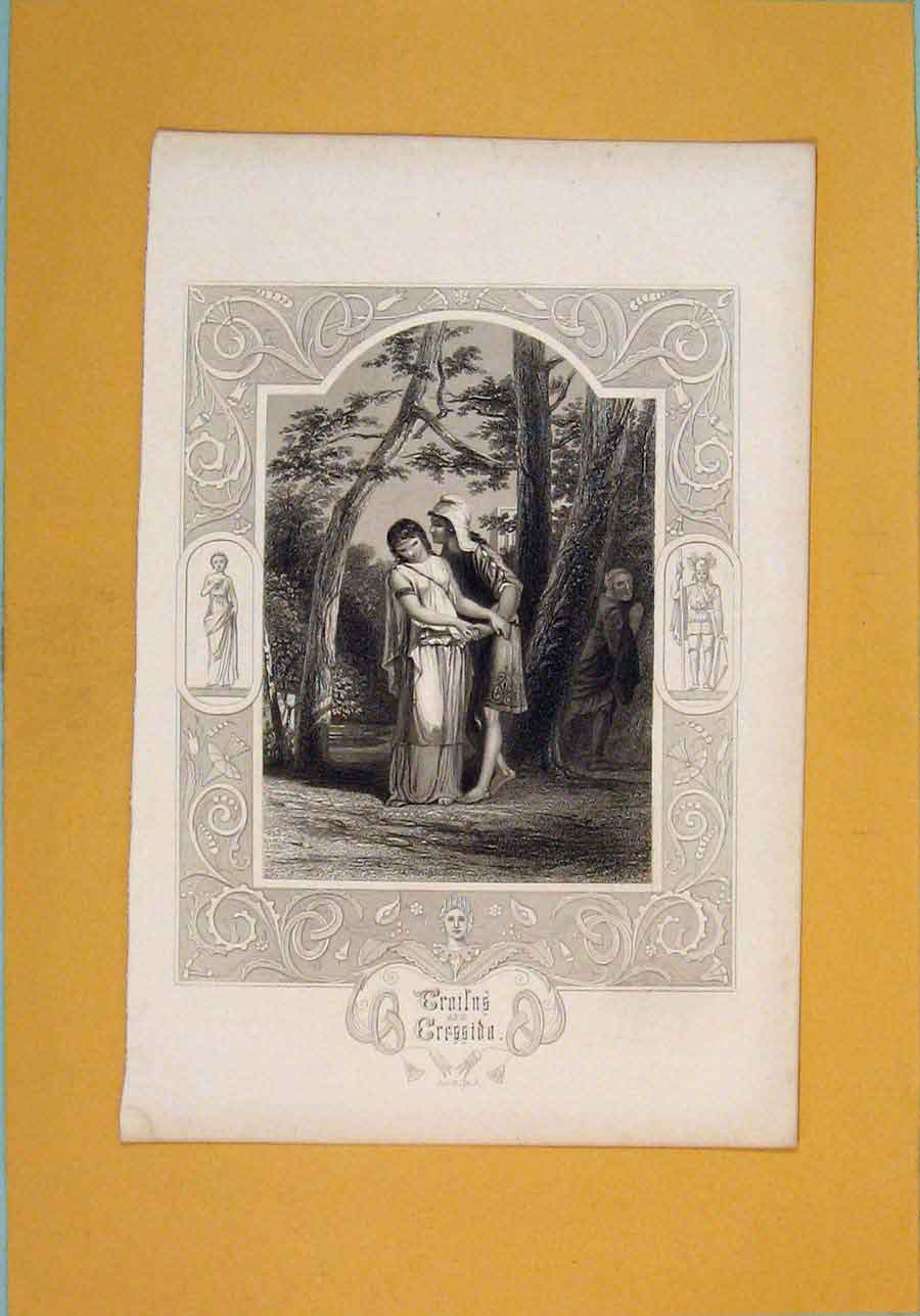 Print Play Croilns Crrssida Act 3 Sc 2 Woods 826101 Old Original