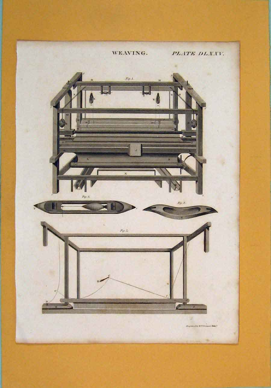 [Print Weaving Machine Design Architecture C1860 316111 Old Original]