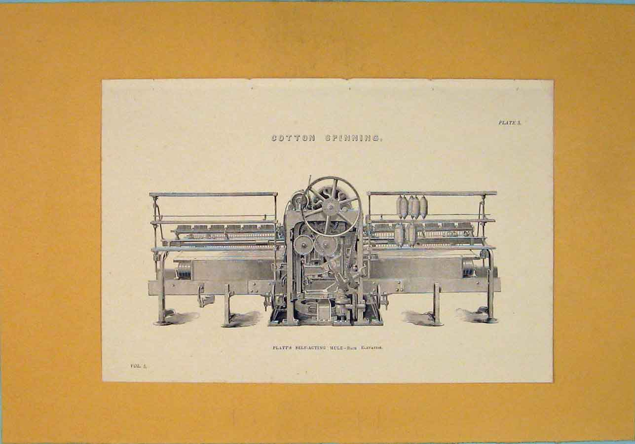 Print Cotton Spinning Machine Design C1860 916111 Old Original