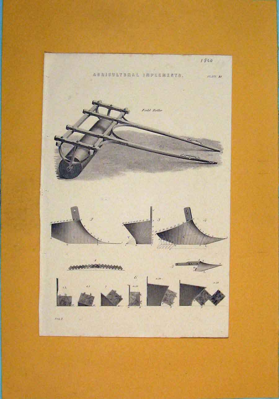 Print Agricultural Implements Farming Designs 006111 Old Original