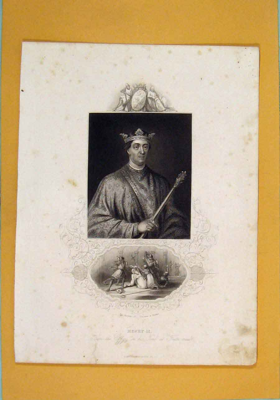 Print Henry Ii Fine Art Portrait C1840 176131 Old Original
