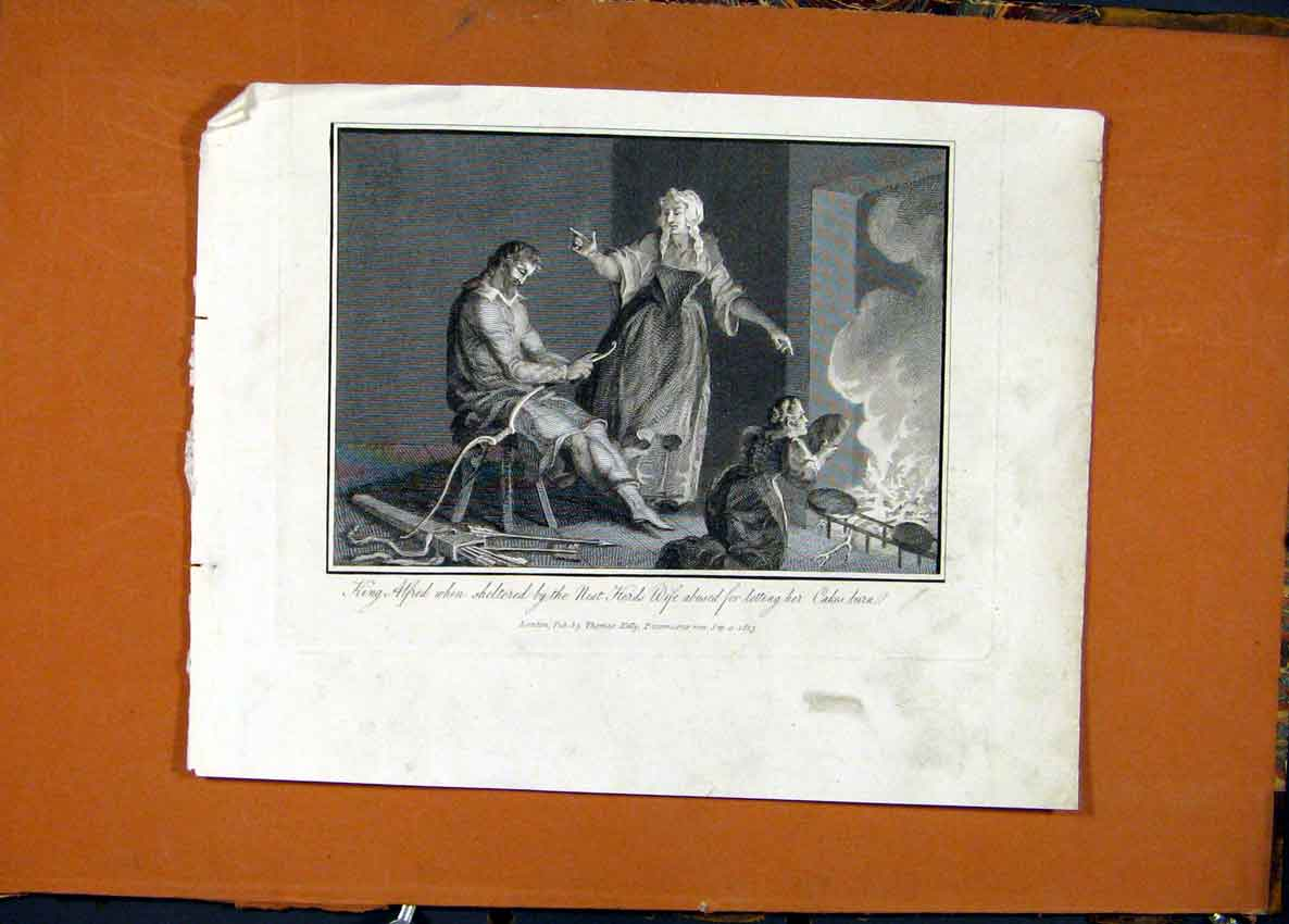 Print King Alfred Neat Herds Wife Burnt Cakes 466131 Old Original
