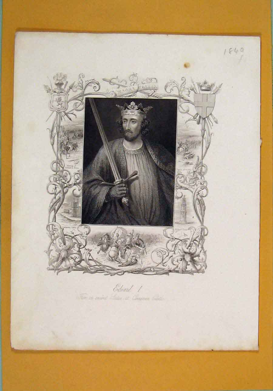 Print Richard Ii Westminster Abbey Portrait 556131 Old Original