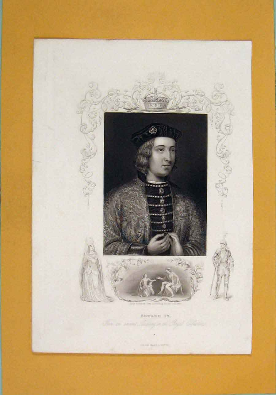 Print Edward Iv Painting Royal Collection Portrait 1840 936131 Old Original