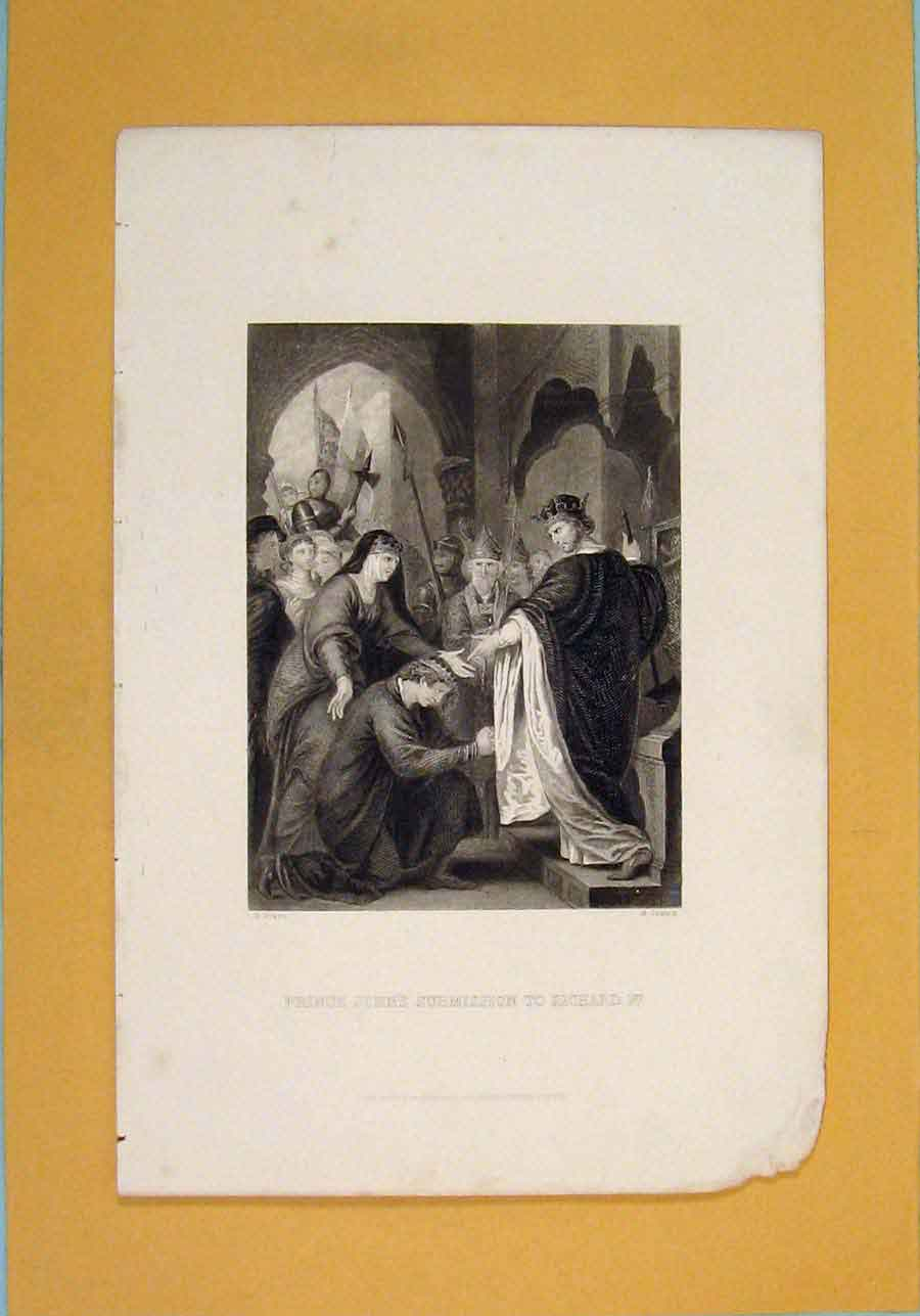 Print Prince John Richard 1St Submission Art C1880 946131 Old Original