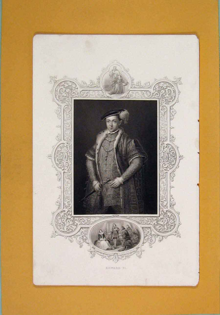 Print Edward Iv Kingfine Art Portrait C1840 966131 Old Original