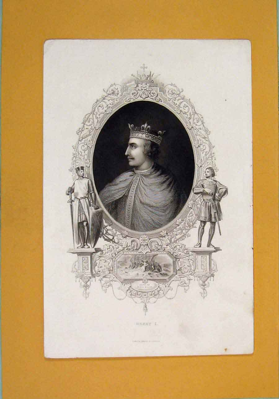 Print Henry I Prince Willain Portrait C1840 986131 Old Original