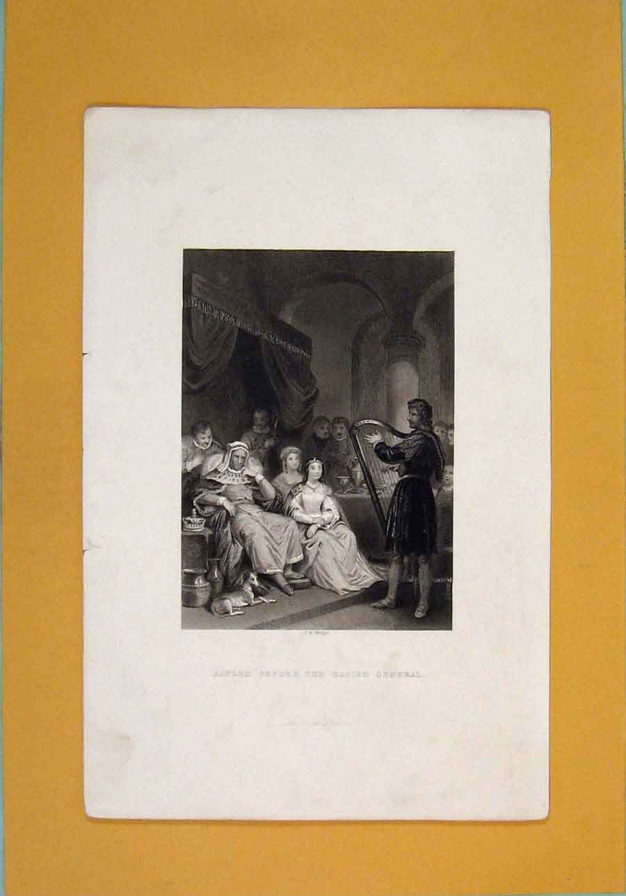 Print Alfred Danish General Fine Art C1840 036131 Old Original