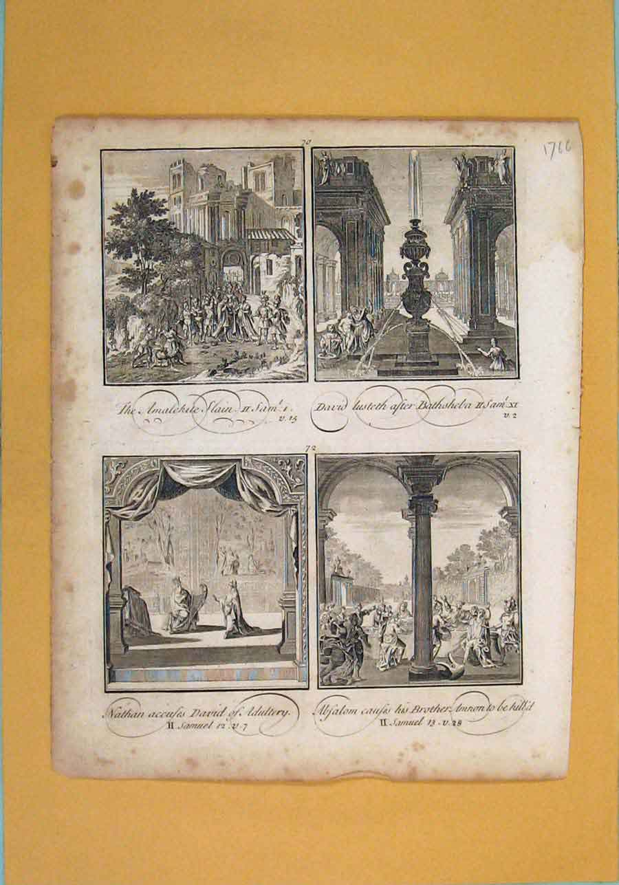 Print David Nathan Religious Christian Biblical 186131 Old Original
