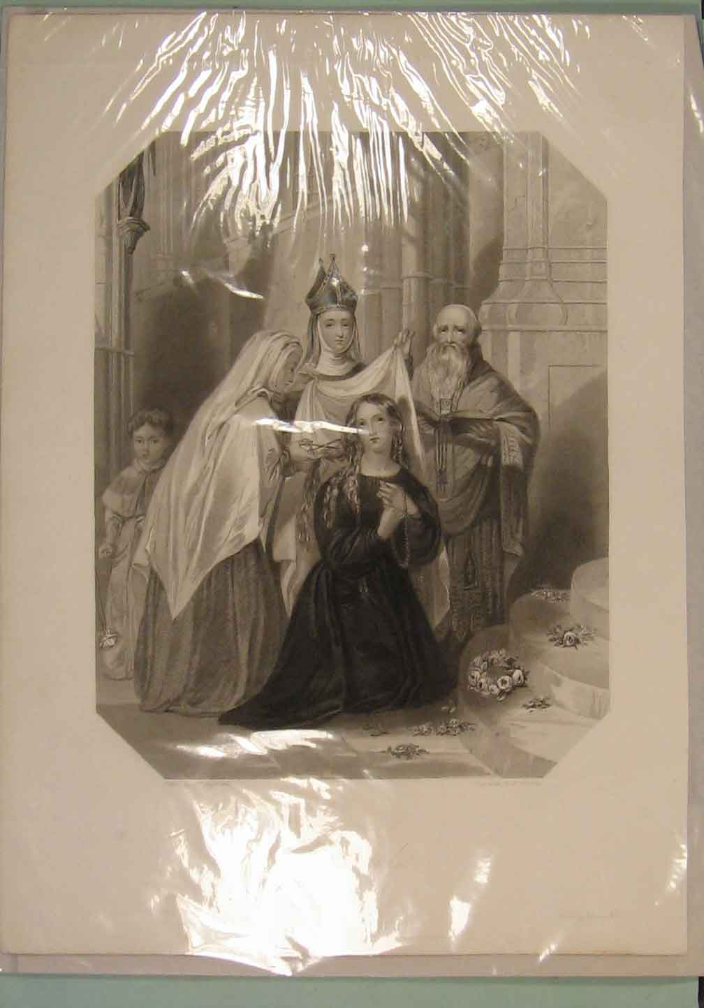 [Print Portugal Wedding Marriage Bride Princess 1840 216141 Old Original]