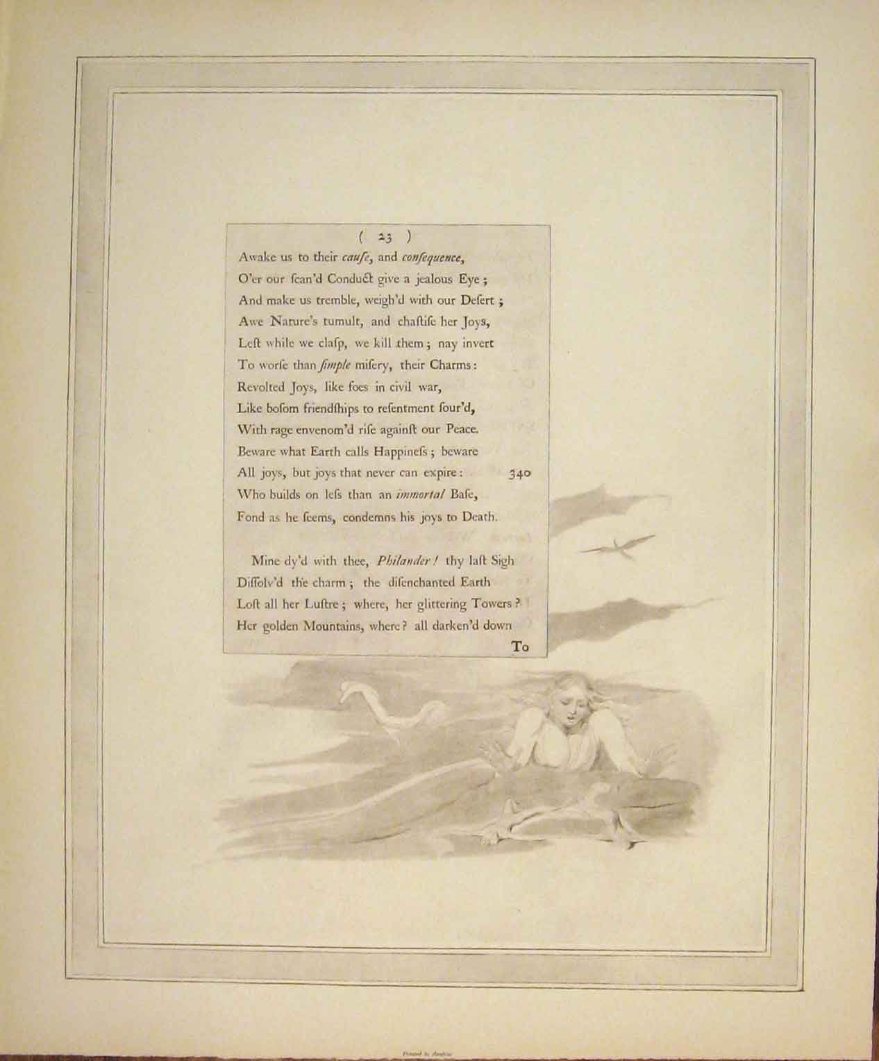 Print Poem Poetry Art Artist Female Lady 426141 Old Original