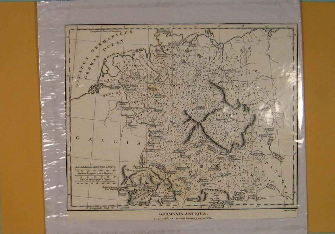 Print Germania Germany German Geographical Map Maps C1807 156181 Old Original