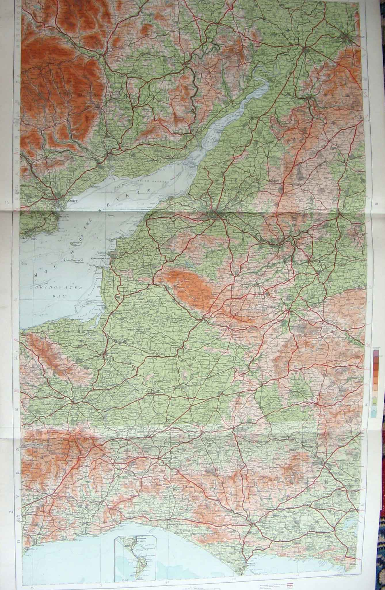 Print England Wales Geographical Map Maps 1910 176201 Old Original