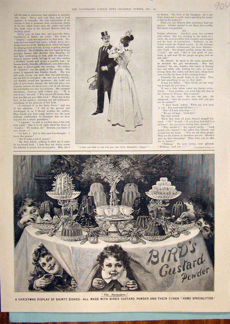 Print Advert Advertisement Bird'S Custard Powder Christmas 046299 Old Original