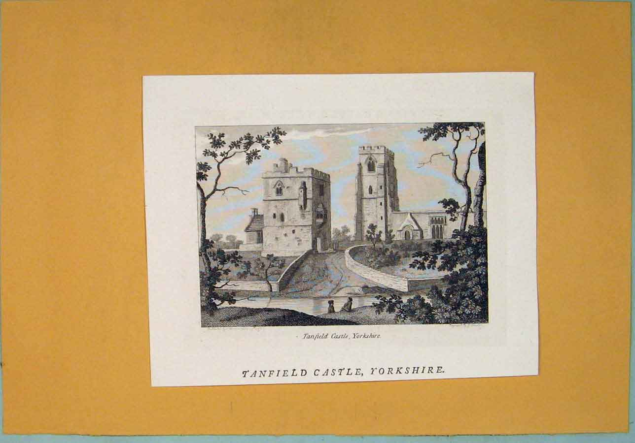 Print Tanfield Castle Fine Art Yorkshire 276361 Old Original
