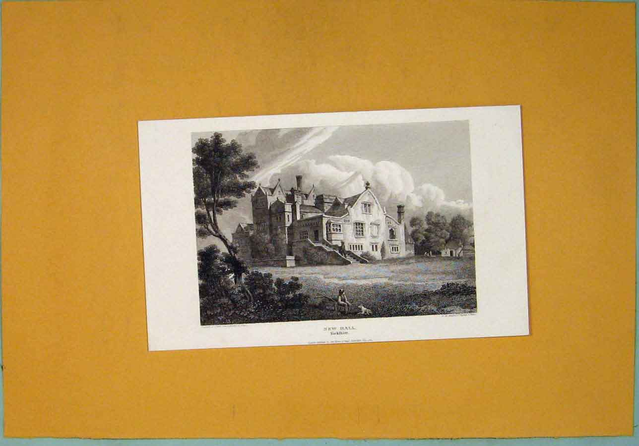 Print New Hall Fine Art Yorkshire C1829 686361 Old Original