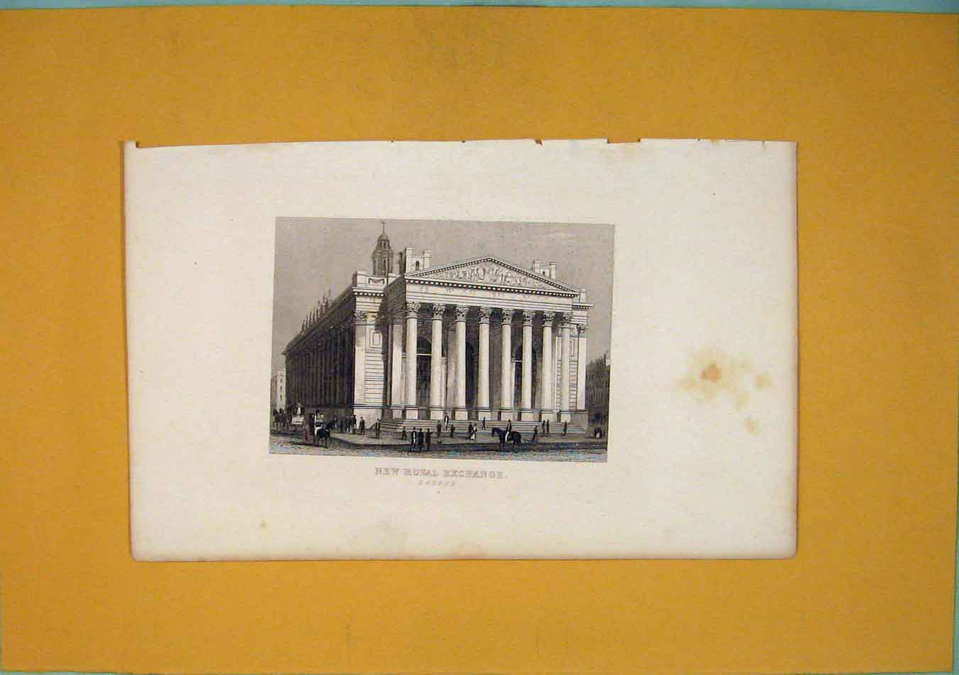 [Print Royal Exchange London Fine Art 986451 Old Original]