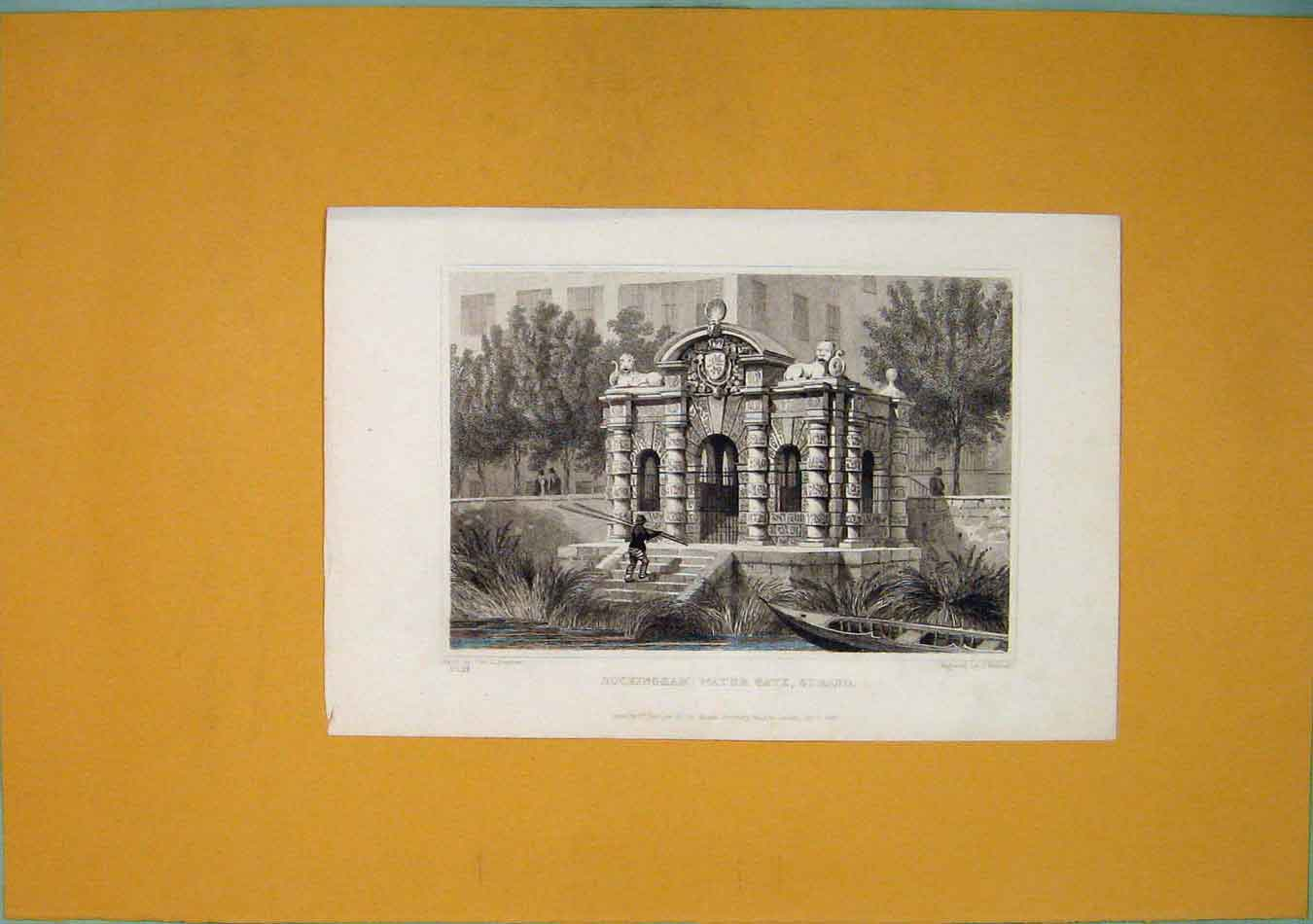 Print Buckingham Water Gate Strand Fine Art 626451 Old Original