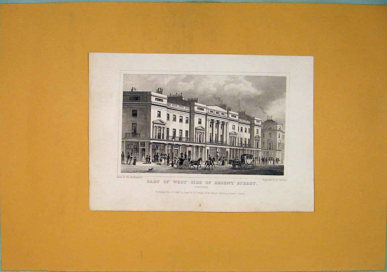 Print West Regents Street London England Park 896451 Old Original